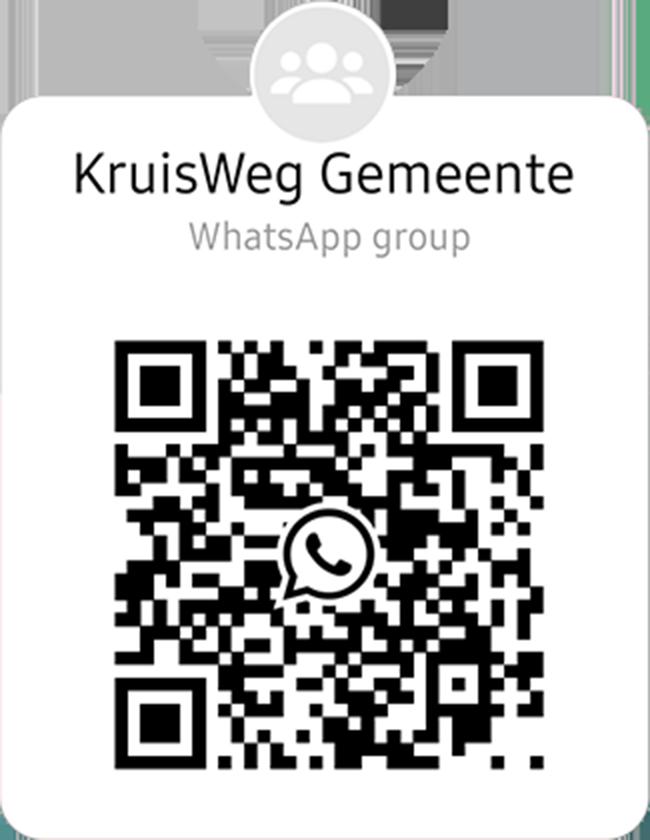 KruisWeg WhatsApp Group